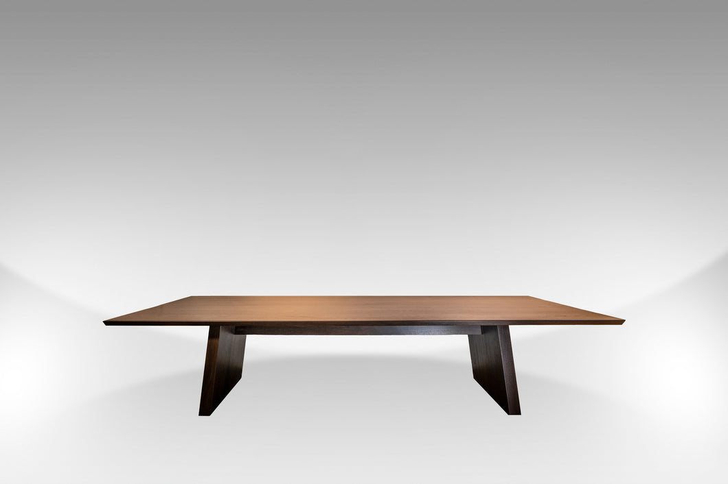 The Jarvis | Walnut Slab Rectangular Contemporary Dining Table