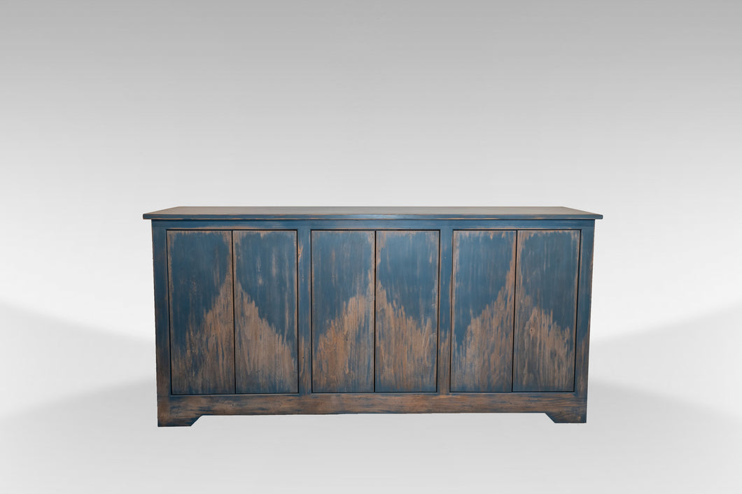 The Delray | Weathered Distressed Beachy Solid Wood Rustic Buffet