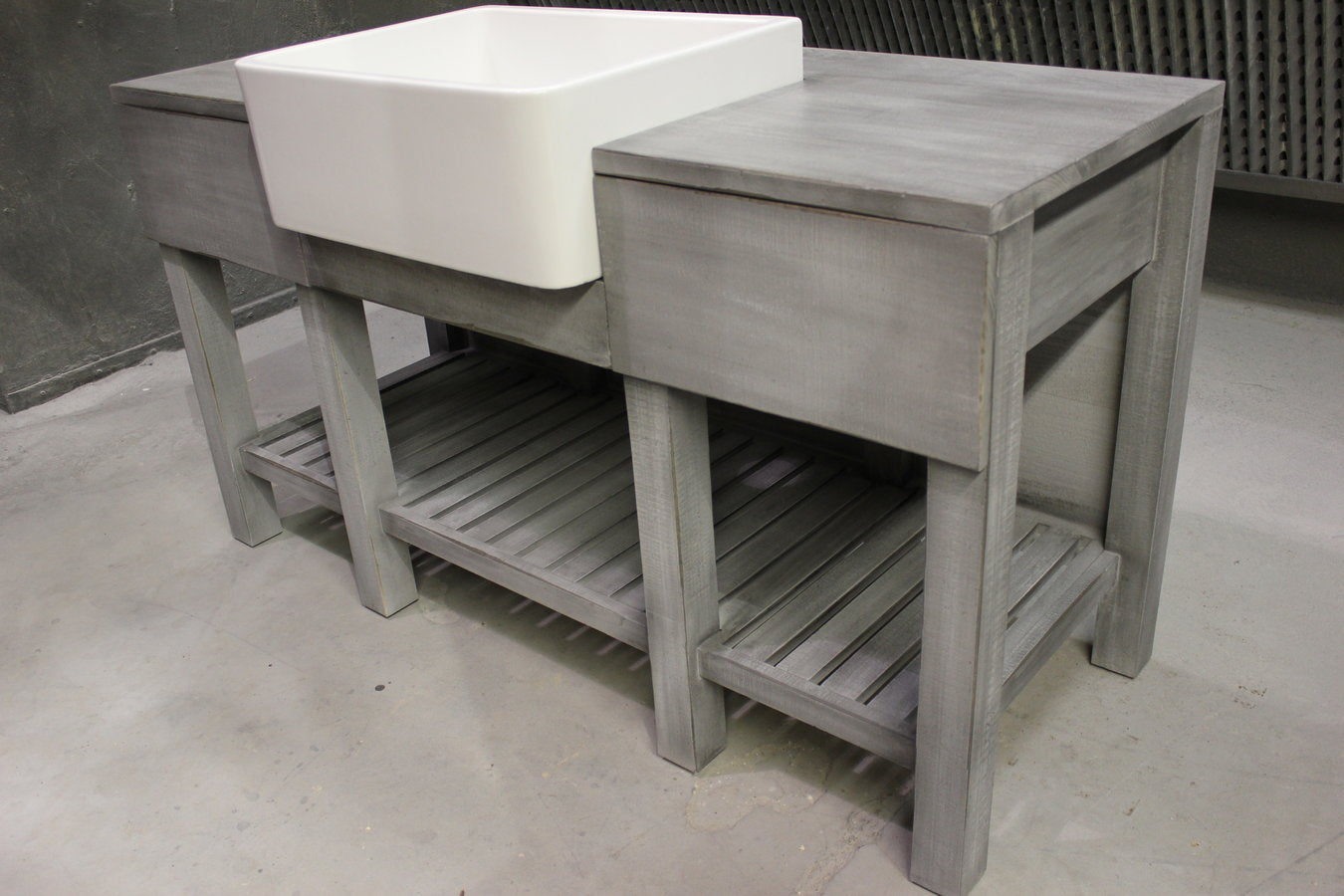 Grey Wash Farmhouse Vanity Solid Wood Rustic Bathroom Vanities The Windsor Workshop