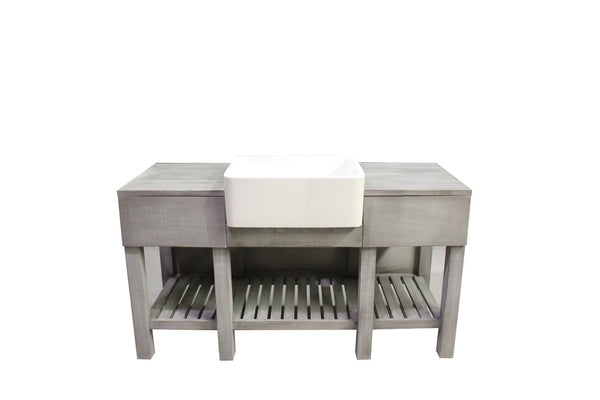 Grey Wash Farmhouse Vanity