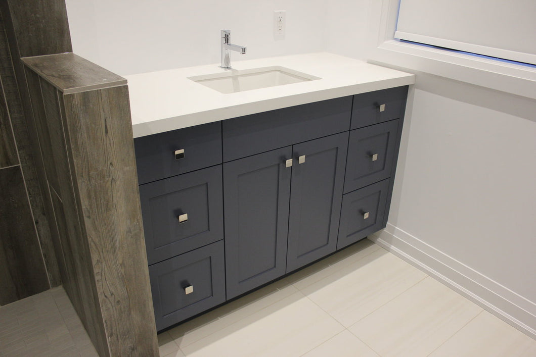 The Invermay Bathroom Vanity | Contemporary Shaker Style Blue Vanity