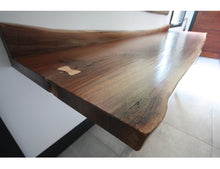 Load image into Gallery viewer, Walnut Live Edge Front Table | Rustic Live Edge Front Hall Table