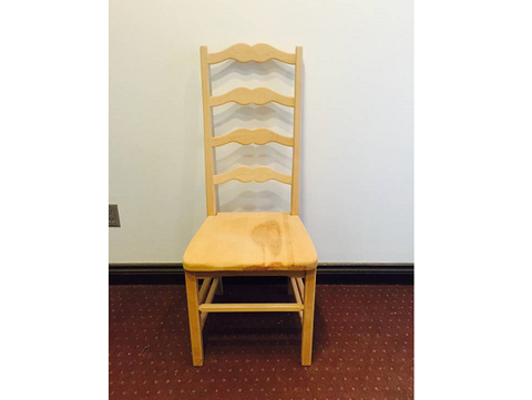 Ladderback Chair With Wooden Seat