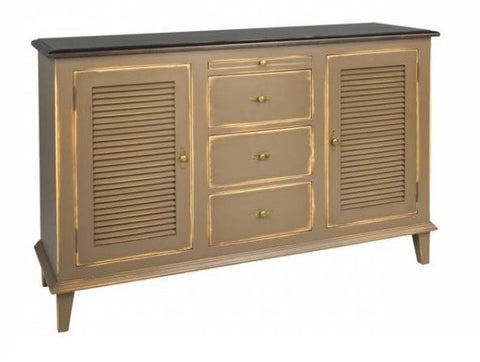 The Northland Kitchen Buffet | Country Solid Wood Louvered Sideboard