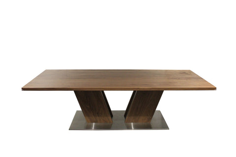 Mack Dining Table | Rectangular Double Pedestal Contemporary Table
