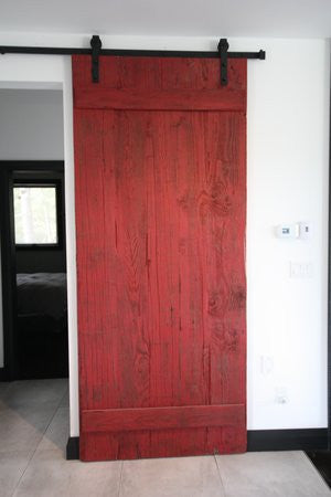 Sliding Barn Door | Solid Wood Rustic Barn Board Sliding Door
