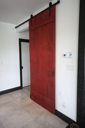 red sliding barn door. Barn Door Red Sliding