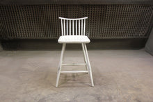 Load image into Gallery viewer, Rod Back Bar Chair | Contemporary Solid Wood White Windsor Bar Chair