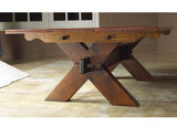 Sawbuck Coffee Table