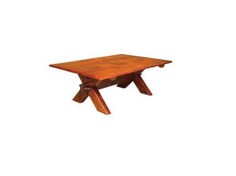 Sawbuck Coffee Table | Country X-Base Solid Wood Coffee Table