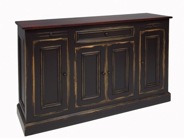 Sheppard Dining Room Buffet Solid Wood Black Country Kitchen Buffet