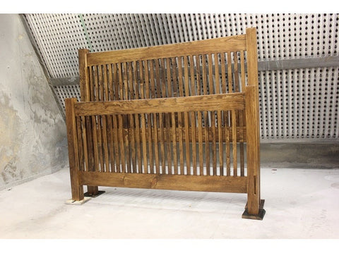 The Slat Bed | Contemporary + Country Wood Slat Head And Foot Board