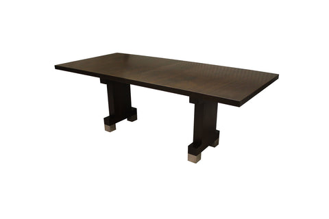 Strathearn Table | Contemporary Formal Walnut Rectangular Dining Table