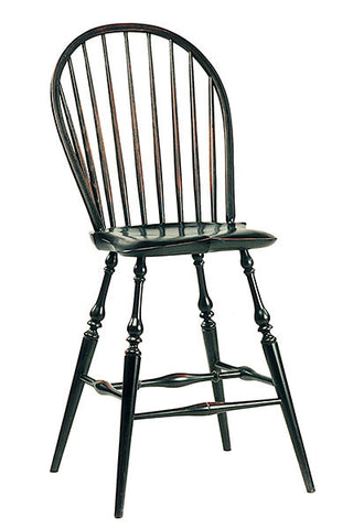 Traditional Continuous Side Bar Chair | Country Breakfast Bar Chairs