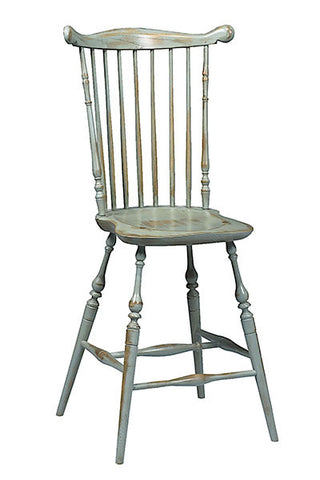 Traditional Windsor Fan Back Bar Chair | Country Breakfast Bar Chairs