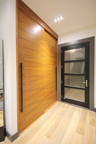 Walnut Closet Sliding Doors Modern Contemporary Walnut Closet Doors