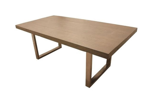 The Krupnik Table | Contemporary Metal Trestle + Wood Dining Table