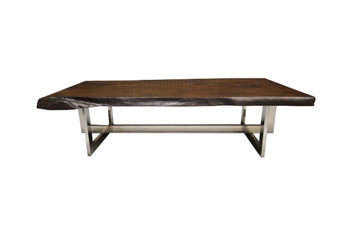 The Ledbury Coffee Table | Rustic Metal + Wood Live Edge Coffee Table