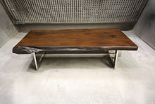 Load image into Gallery viewer, The Ledbury Coffee Table | Rustic Metal + Wood Live Edge Coffee Table