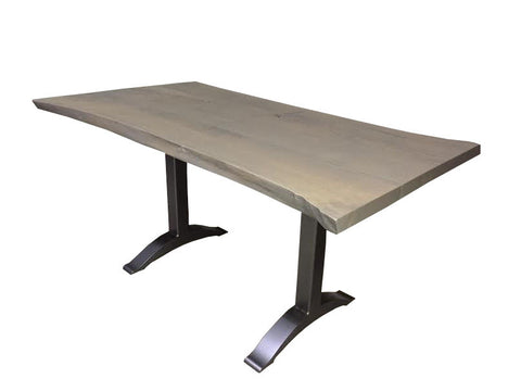 Montgomery Table | Contemporary Live Edge + Metal Base Dining Table