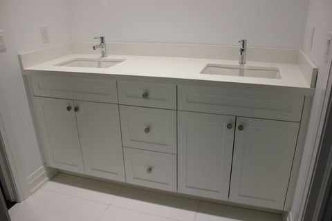 Riverview Double Vanity | Double Sink Contemporary Shaker White Vanity