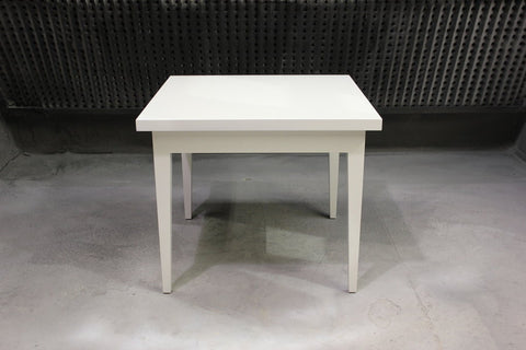 Roslin Dining Table | White Contemporary Wood Square Dinner Table