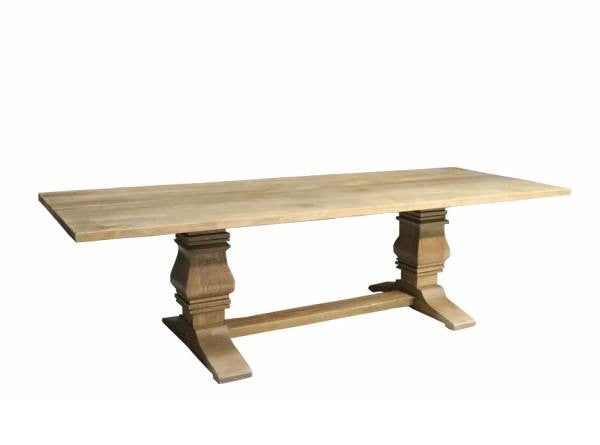 Trestle Table | Contemporary Rectangular Solid Wood Slab Dining Table