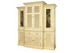 Louvered China Cabinet