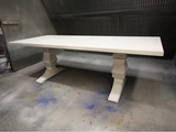White Trestle Table