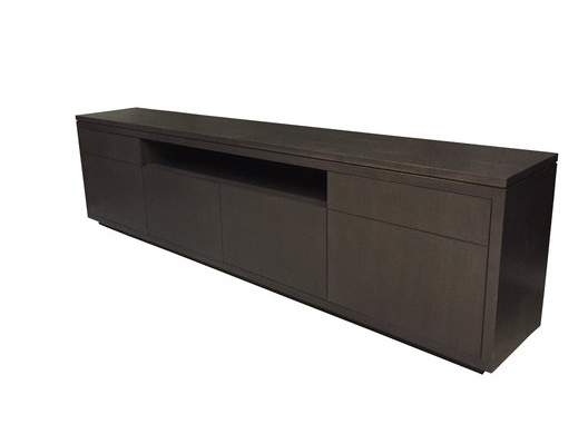 Willowdale TV Console | Large Wood Contemporary TV Entertainment Unit