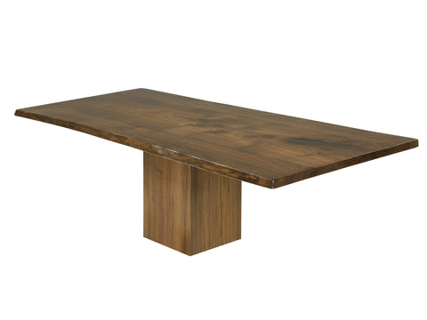 Walnut Live Edge Table | Rustic Modern Live Edge Slab Dining Table