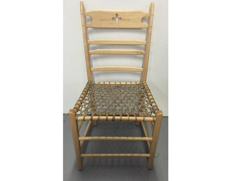 Ladderback Chair With Rawhide Seat