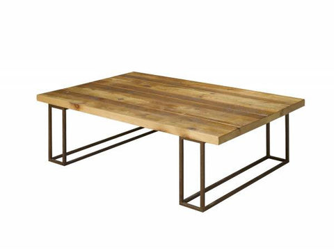 Reclaimed Pine Steel Coffee Table