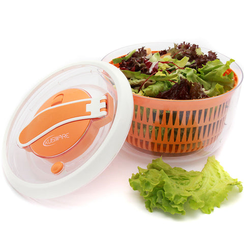 OneSpin Salad Spinner - Premium Salad Spinner with Paddle Mechanism, 5.2 Quarts