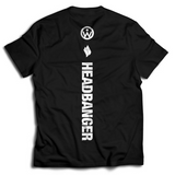 Headbanger Back Strip Tee - We Rave Hard