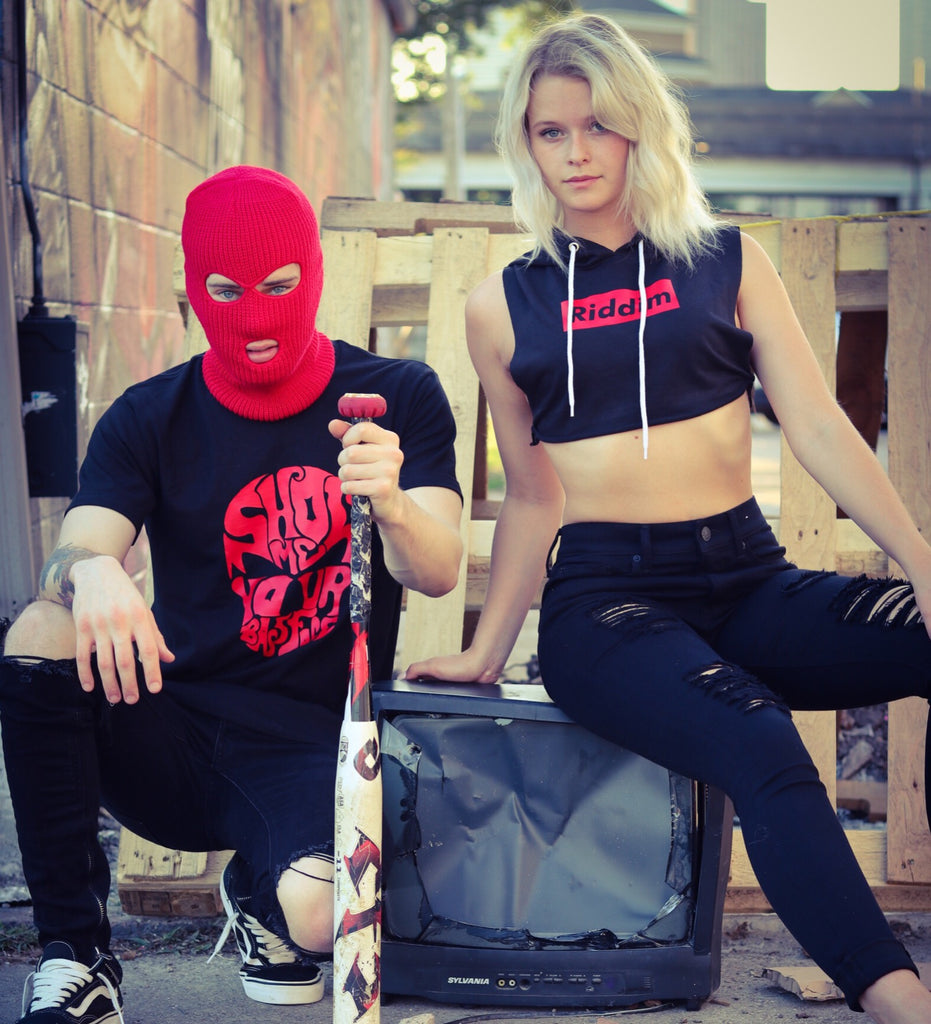 Ski Mask RED / Black - We Rave Hard