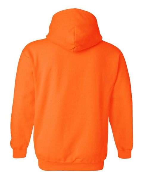 WE RAVE HARD NEON ORANGE HOODIE (Reflective Print) - We Rave Hard