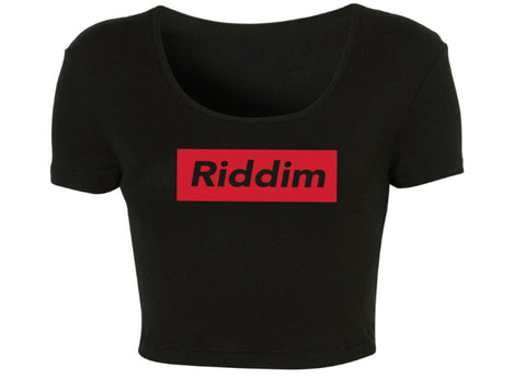 Riddim Supreme Crop Top - We Rave Hard