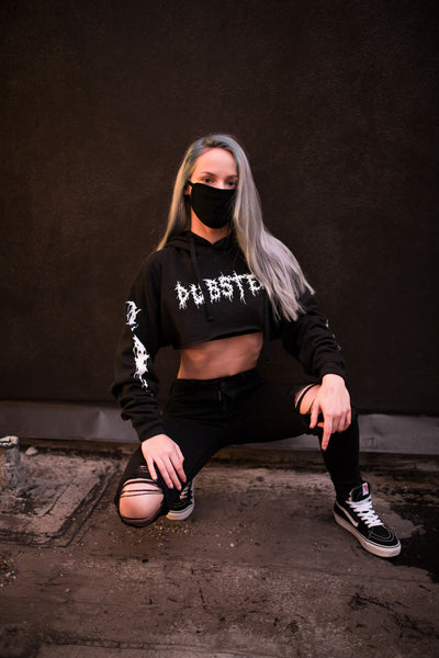 DubStep Crop Top Hoodie - We Rave Hard