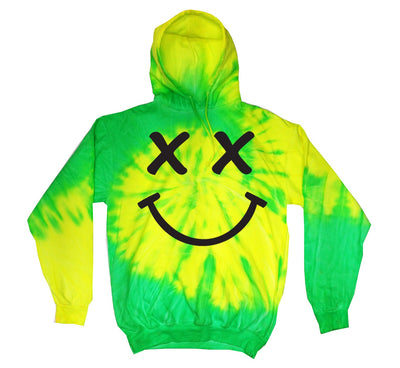 Neon Green Rave Happy Hoodie - We Rave Hard