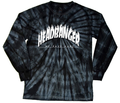 Headbanger Tie Dye Tee - We Rave Hard
