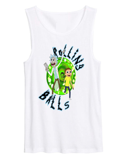 Rick & Morty Rolling Balls We Rave Hard T-shirt / Tank - We Rave Hard