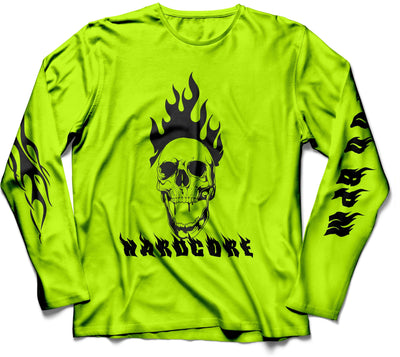 Neon Hardcore Skull Long Sleeve