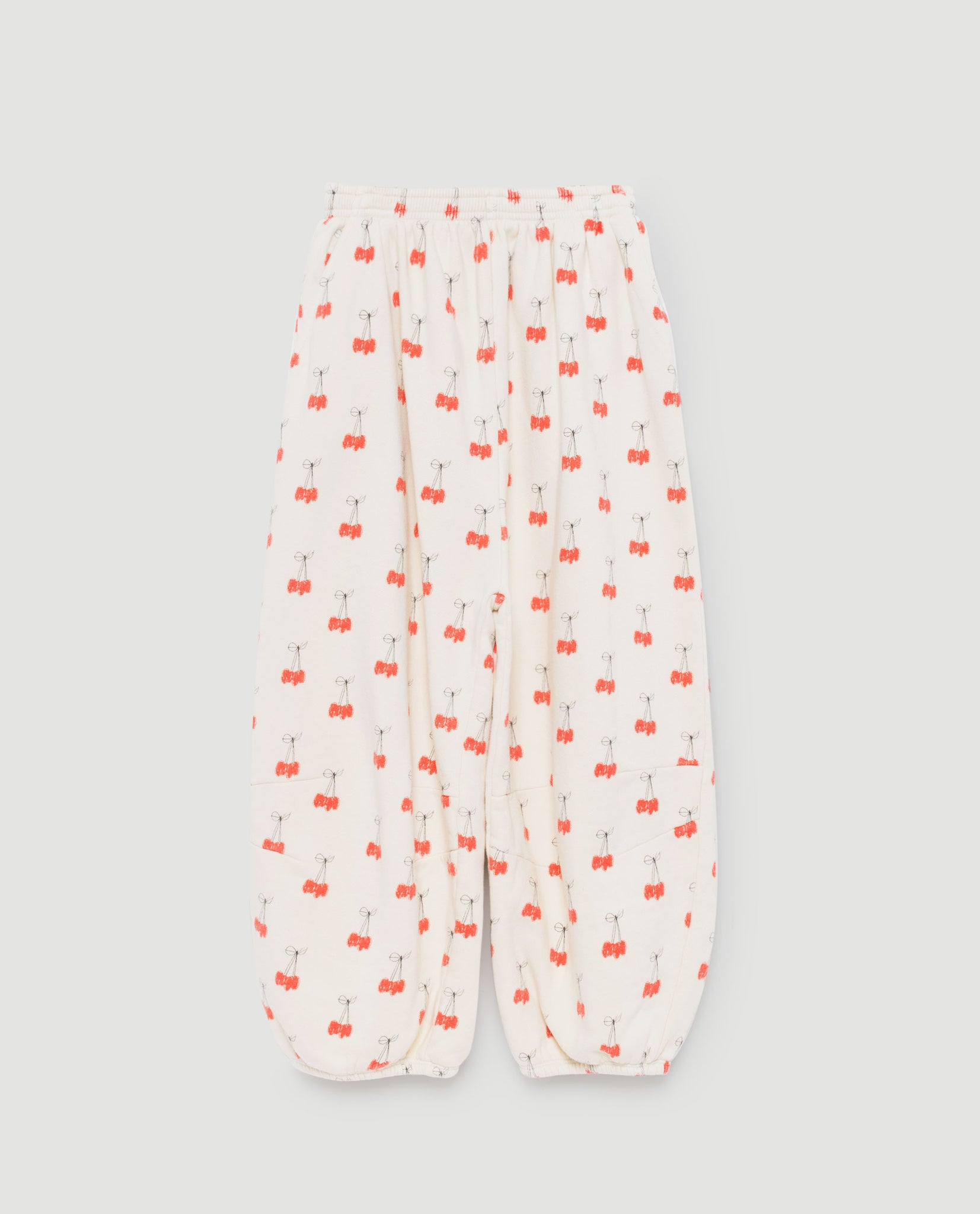 Dromedary kids pants - white cherries