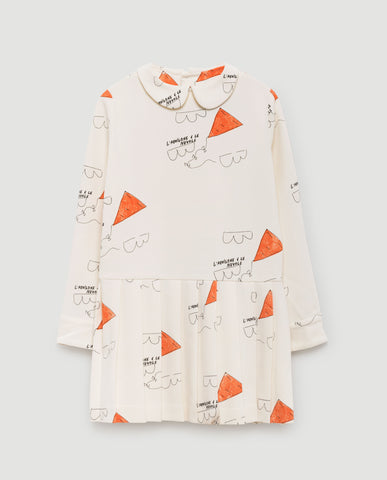 Canary kids dress - white kites