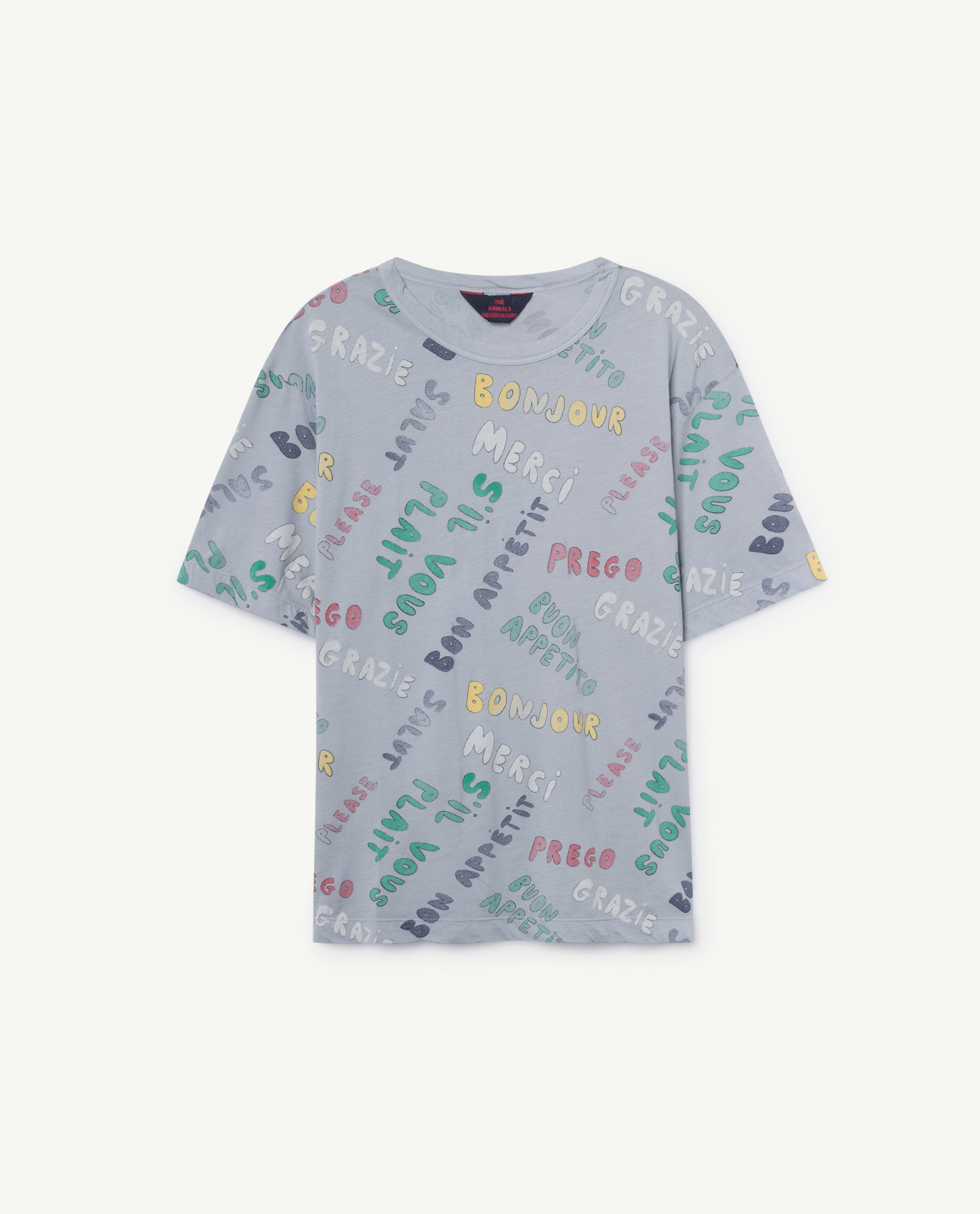 ROOSTER OVERSIZE KIDS T-SHIRT // BLUE