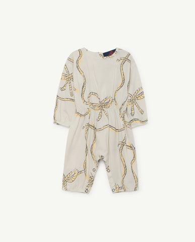 MEERKAT BABIES JUMPSUIT - WHITE ROPES