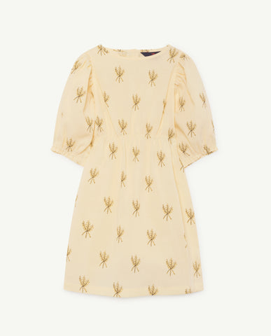 SWALLOW KIDS DRESS // YELLOW WHEAT SPIKES