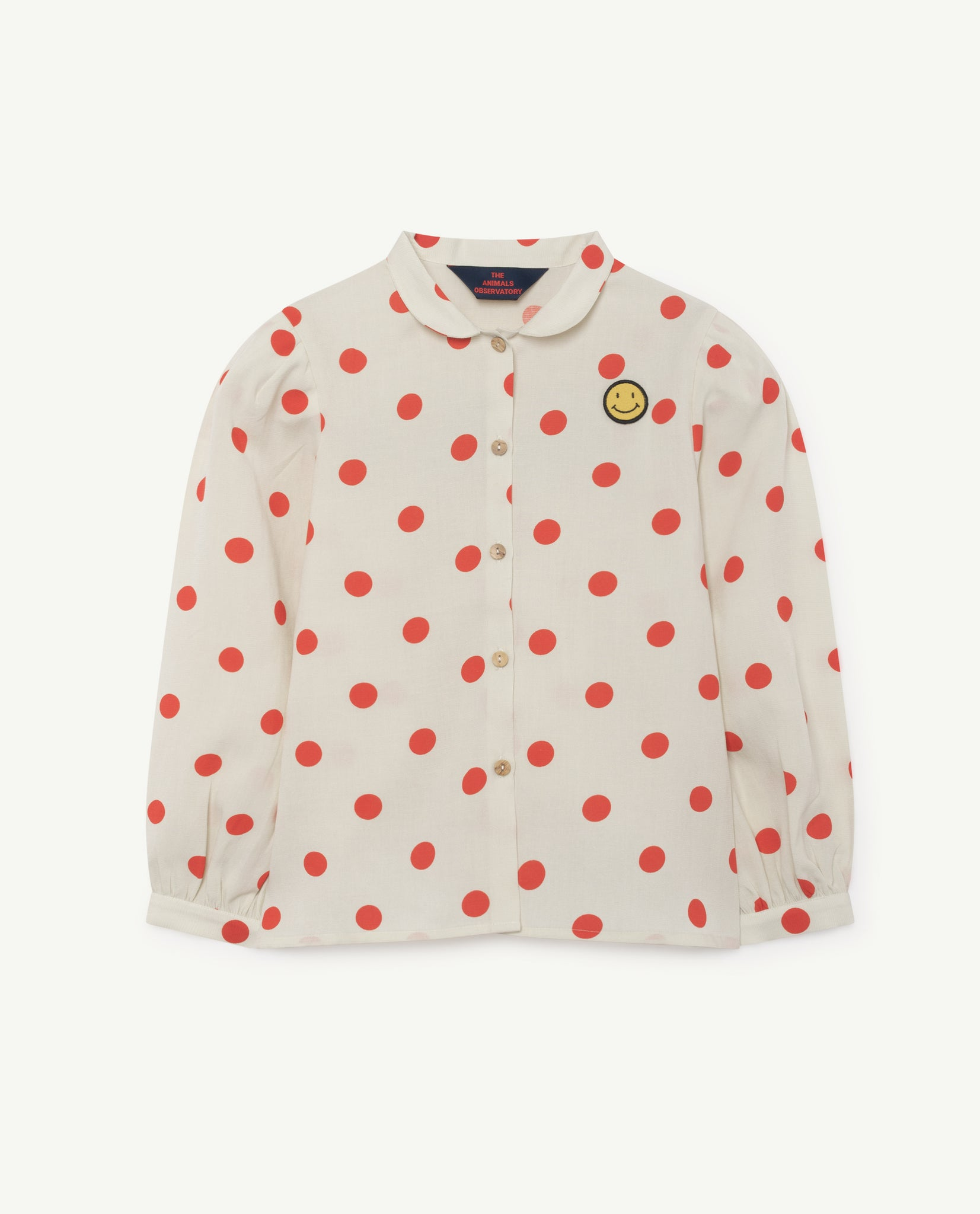 GADFLY KIDS SHIRT // WHITE POLKA DOTS