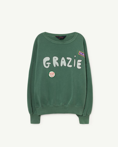 BIG BEAR KIDS SWEATSHIRT // GREEN GRAZIE - Geboortelijst Lies